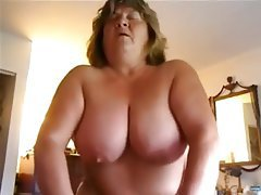 Amateur BBW Big Boobs Granny POV