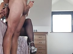 Amateur British Handjob Stockings