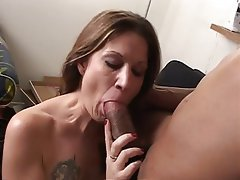 Blowjob Facial Interracial MILF Lingerie