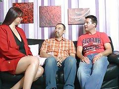 BBW Big Boobs German Mature Threesome