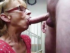Blowjob Cumshot Facial Granny Mature