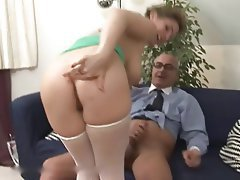 Anal Hairy Hardcore Old and Young Stockings