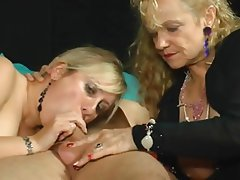 BBW Blowjob German Mature Threesome