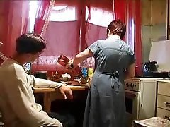 Granny Mature Russian Kitchen