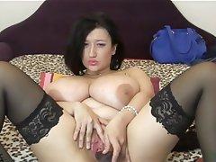 BBW Big Boobs Dildo Masturbation Webcam