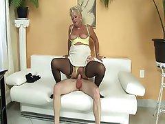 Stockings Granny Dildo Big Tits