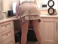 Blonde Mature MILF Stockings