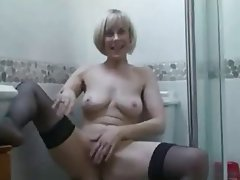 Masturbation Mature MILF POV Stockings