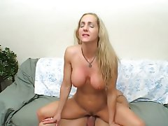 Big Boobs Blonde Facial MILF