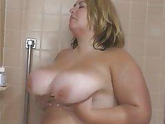 BBW Big Boobs Blonde Interracial Threesome