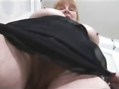 Big Boobs Blonde Granny Hairy Stockings