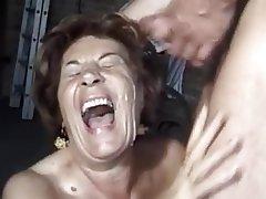 Cumshot German Granny Hairy Mature
