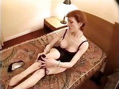 Amateur Blonde Mature Stockings