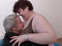 BBW Big Boobs Blowjob Granny Mature