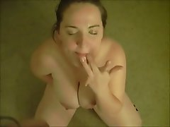 BBW Big Boobs Blowjob Brunette Facial