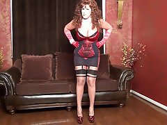 Amateur Big Boobs MILF Redhead Stockings