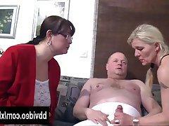 Blowjob German Hardcore MILF Threesome