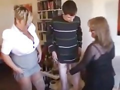 BBW Mature MILF Old and Young Threesome