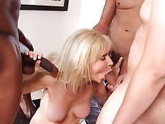 Blonde Granny Mature Old and Young