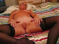 Amateur Big Boobs Blonde Granny