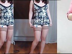 Brunette Mature MILF Stockings Webcam